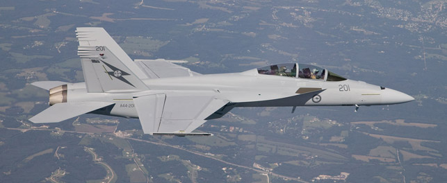 RAAF Super Hornet first flight