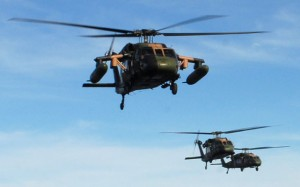 Army Black Hawks in East Timor. (Dept of Defence)