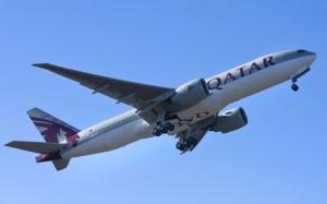 Qatar's first 777-200LR. (Boeing)