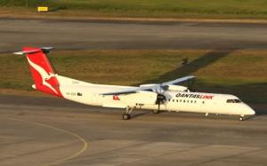 A Q400 taxis at Brisbane. (Paul Sadler)