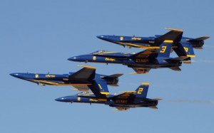Blue Angels jets are among the grounded US Navy 'classic' Hornets. (USN)