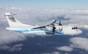 The ATR 42-600 during its first flight. (ATR)