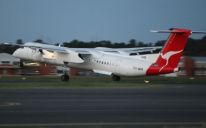 QantasLink Q400s are soon off to PNG. (Paul Sadler)