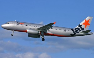 VH-VQT involved in the go-around incident at Melbourne Airport. (Cecily McCarthy)