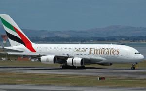 An Emirates A380 at Auckland. (Gary Hollier)