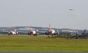 A file image of domestic movements at Brisbane Airport. (Graham Bottomley)