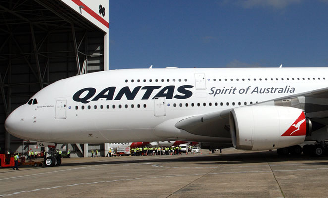 Heavy maintenance of Qantas's A380s is performed offshore.