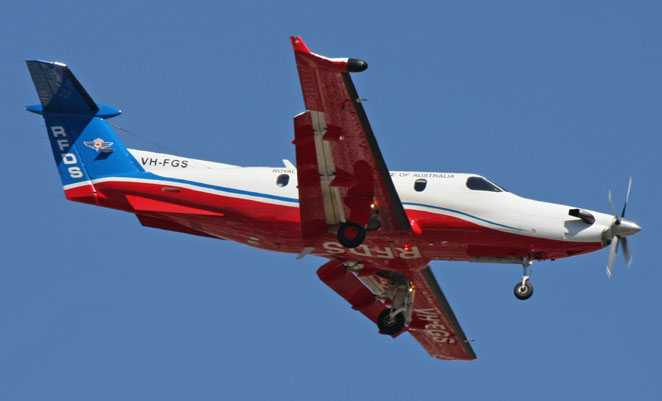 A RFDS PC-12. (Ryan Hothersall)