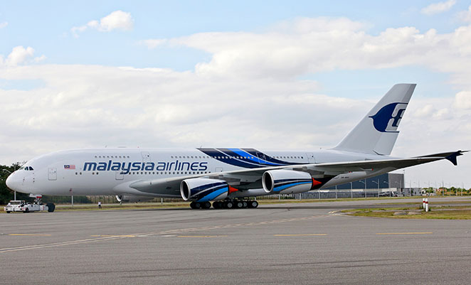 Malaysia Airlines introduced a special livery for its A380 fleet. (Airbus)