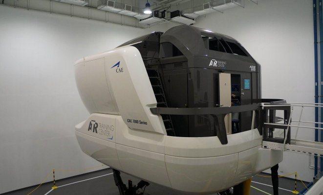 A file image of an ATR's full flight simulator in SIngapore. (ATR)
