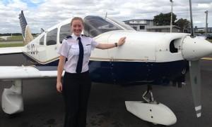 Larissa Stephens, the 2013 recipient of the RAAF/AWPA Formation Scholarship