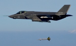 First weapons release for the F-35C. (LM)