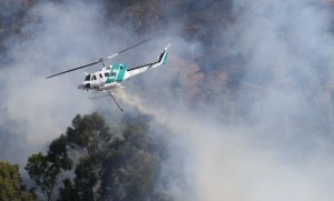 Aircraft involved in aerial firefighting already face challenging conditions without the prospects of contending with drones over the fire ground. (Wayne Rigg)