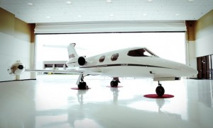 Still resplendent after 50 years, the original Learjet 23 will be showcased at this year's NBAA event. (Bombardier)