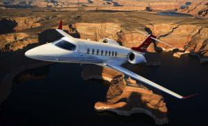 The Learjet 75.