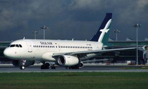 A SilkAir A319 at Singapore. (Rob Finlayson)