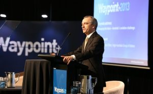 John Borghetti speaks at the Waypoint conference. (Airservices/Paul Sadler)