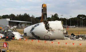 It took just 90 minutes for the BAe146 to be broken up. (All images: Paul Daw)