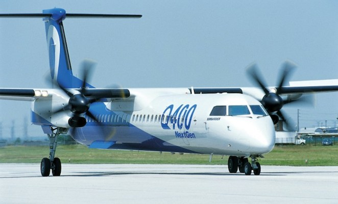 Bombardier has launched a combi version of its Q400 NextGen regional turboprop.(Bombardier)