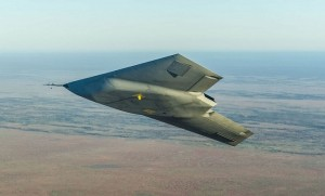 The Taranis UCAV over what appears to be the South Australian outback. (BAE/UK MoD)