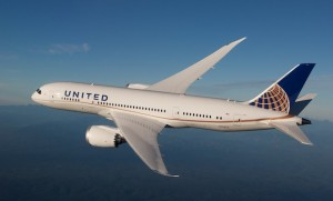 A 787-8 in United colours. The larger 787-9 will operate to Melbourne from October.