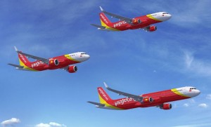 VietJetAir's order is a mix of current and new engine option A320 Family airliners. (Airbus)