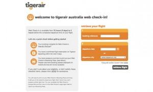Tigerair has launched web check.