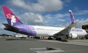 The Honolulu-Brisbane route is operated by the Boeing 767-300ER.