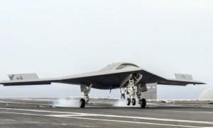 The X-47B UCAS-D is the 2014 Collier Trophy winner. (US Navy)
