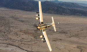 The AT-6C is an armed light attack version of the T-6C advanced trainer. (Beechcraft)