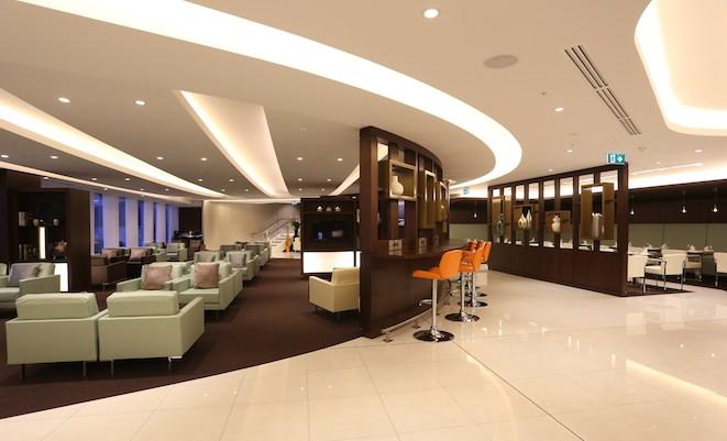 Etihad's new Sydney lounge.