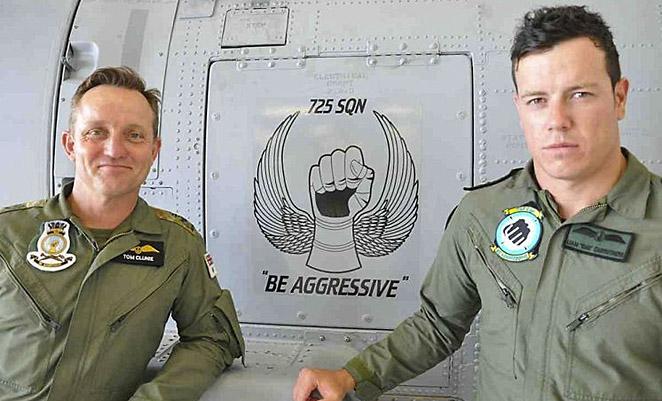 RAN SENSOs Leading Seaman Tom Clunie and Leading Seaman Liam Carruthers. (Navy Daily)