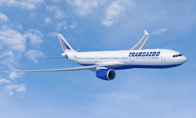 Transaero has ordered eight A330ceos and 12 A330neos (pictured).