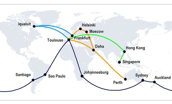 A350 Map