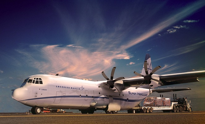 The LM-100J is a commercial freighter version of the C-130J-30 Hercules. (Lockheed Martin)