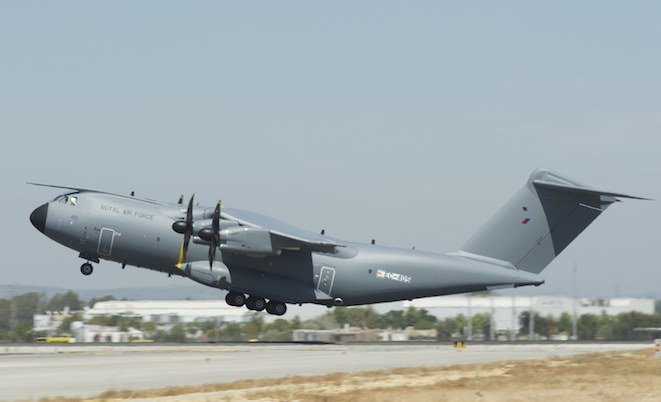 First flight for the first RAF A400M.