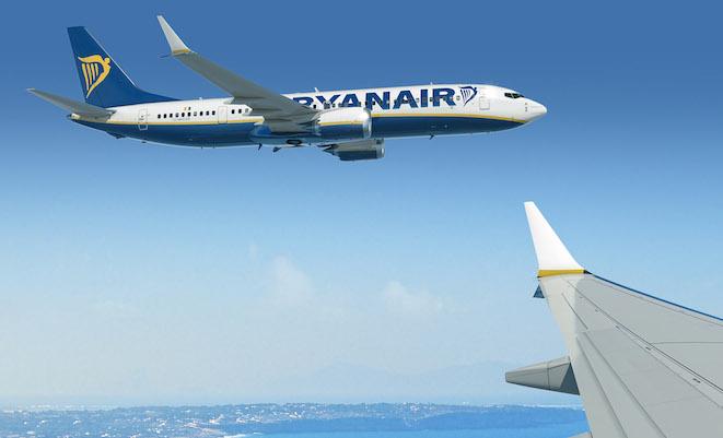 An artist impression of a Ryanair 737-MAX 8 (Boeing)