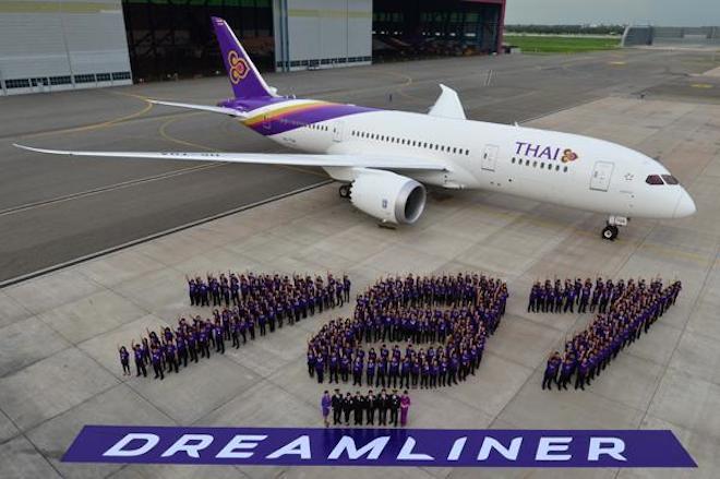 Thai Airways welcomes its first 787-8 (Thai Airways International)