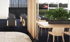 An illustration of the proposed Qantas Perth business lounge. (Qantas)