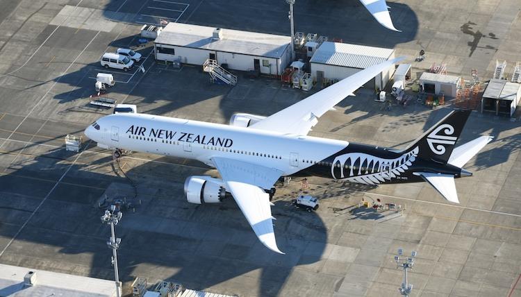 Air NZ Boeing 787-9 at Boeing's Paine Field in Everett, Washington. (Gerard Frawley)