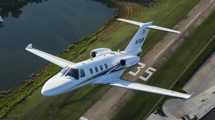 A Cessna Citation M2 takes off. (Cessna)