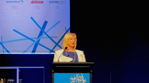 Sydney Airport chief executive Kerrie Mather at AAA national conference.