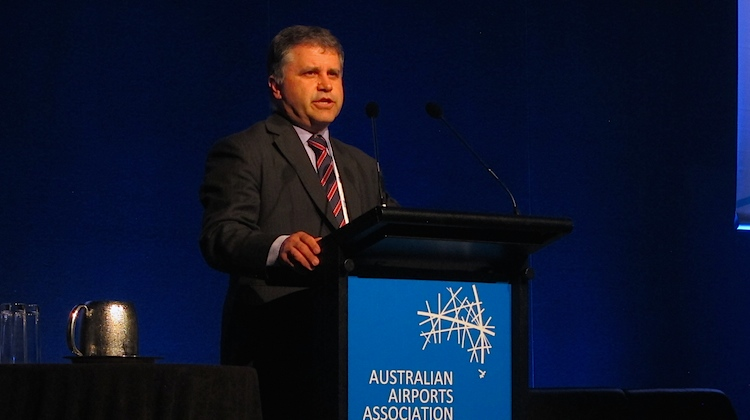 Department of Infrastructure and Regional Development Secretary Mike Mrdak at AAA convention.