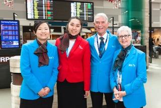 Sydney Airport ambassadors Chen Curtis, Jennifer Lin, Brian Gray and Lyn Storrar. (Sydney Airport)
