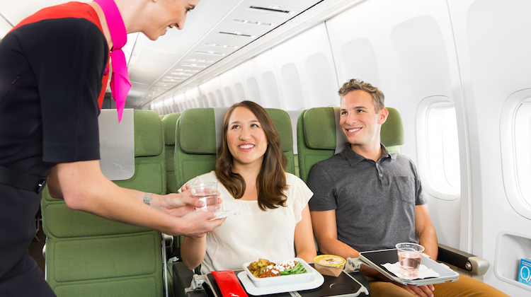 Qantas will offering a trayless meal service in economy. (Qantas)