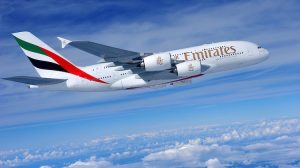 An Emirates A380, soon to be seen at Perth Airport. (Emirates)
