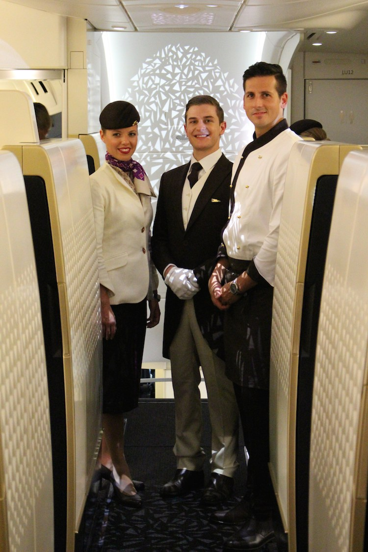 First class staff and single aisle - A380 - Etihad launch event at AUH --JW IMG_4483