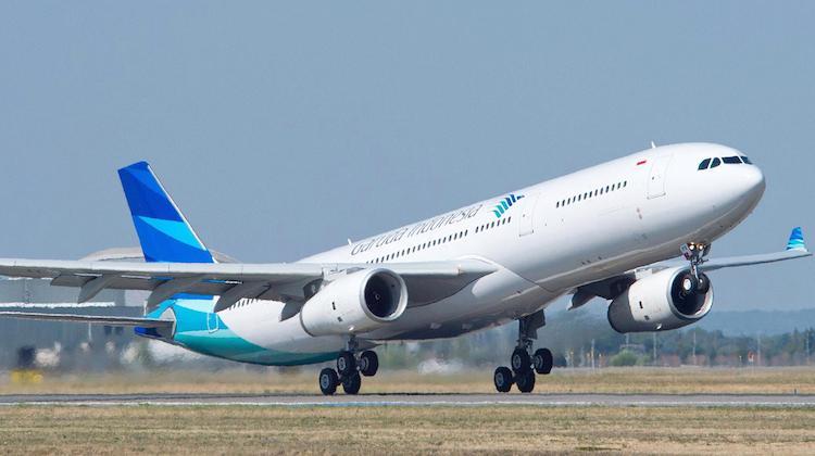 An Garuda Indonesia Airbus A330-300 takes off. (Airbus)