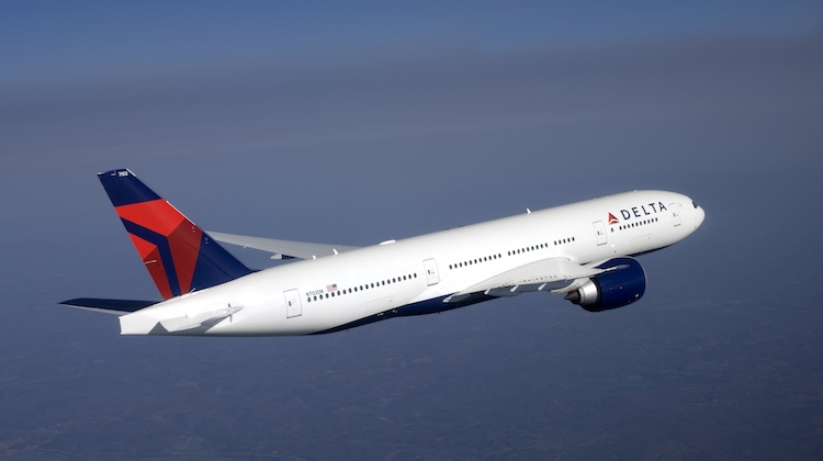 A Delta Air Lines Boeing 777-200LR used on the airline's Sydney-Los Angeles service. (Delta)