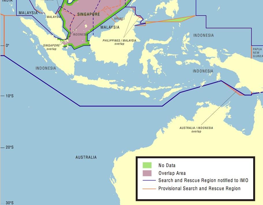 Indonesia SAR zone